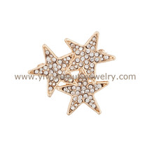 Top seller brooches and buckles fashion girls favorite shinning rhinestone star brooch 2015