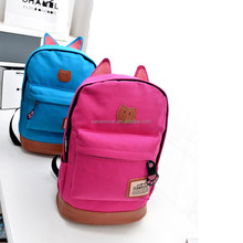 Fashion cats ear design preppy wholesale school backpack bag
