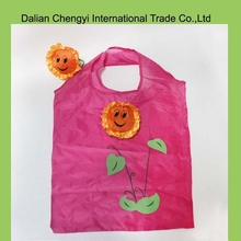 promotional reusable folding sun shaped shopping bags