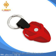 wholesale custom red pvc keyring
