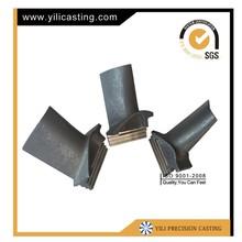 vacuum casting turbo turbine balde used on locomotive aviation turbojet gas turbine turbocharger and jet ski engine