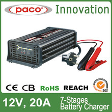 7 stages best automotive battery charger 12V 10A with repairing battery function