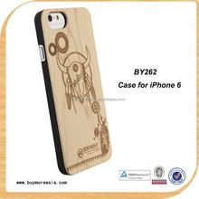 Waterproof Wood Cover Case for iPhone 6 6s Laser Engraving Logo OEM Custom Design