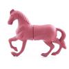Horse shape pink color flat flash drive wholesale usb flash drive parts pen drive sale