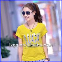 Ladies branded fashion new trend 100% cotton 2013 korea t-shirt lady fashion