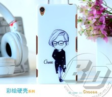 High Quality Cell Phone Case For Sony Xperia Z3 Hard PC Cartoon Painting Back Cover Case
