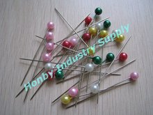 Bright Color Pearl Plastic Ball Head Pin, 38mm Long