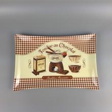 rectangular indent block design melamine plastic chocolate tray decorations
