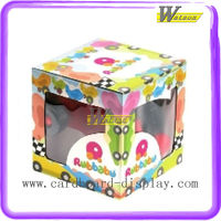 Colorful cartoon design paper show box for promotion