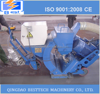 Portable shot blasting machine used for high-speed rail/road surface,bridge floor waterproof/mark line cleaning
