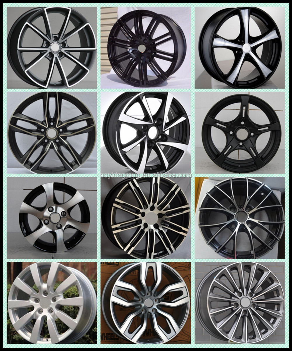 high quality wheel rims 4 holes 5 holes car alloy wheel with different color buy high quality. Black Bedroom Furniture Sets. Home Design Ideas