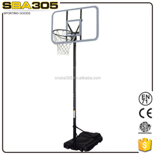 portable hydraulic height adjustable basketball system