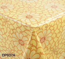 Girasol impresa # DP037A mayorista PVC tela barata mantel hecho en China