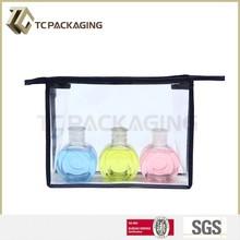 Novo modelo de plástico saco de cosmética PVC saco de cosmética