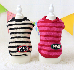 Pet Fashion Stripe Winter Dog Clothes Dog Winter Coats Dog Apparel Pet Accessories Wholesale Pet Products Dogs