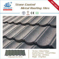 Monier villa roof tile colorful stone coated metal roof tile