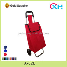 2014 hot sale folding trolley shopping bag, wholesale grocery shopping cart with wheels