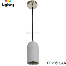 Concrete industrial pendant lights ceiling lighting with electrical fabric
