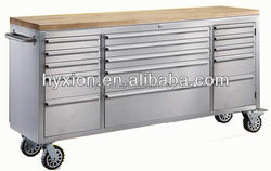 Hot sale rubber wood on top portable tool chest