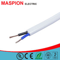 Maspion CE ROHS different types of cables and wires CCA 2 core flexible wire