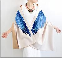 Digital Print Eagle Women Soft Warm Large Pashmia Shawl Scarf Wraps