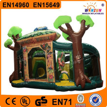 backyard cartoon inflatable jungle combo for sale