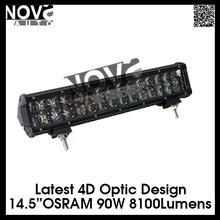 Top Seller 4D Lens Osram LED Headlamp ,LED Light Bar 90W