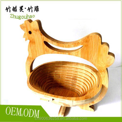 Environmental protection animal bamboo fruit basket