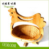 Environmental protection animal bamboo fruit basket