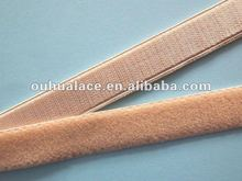 shiny face plush back elastic shoulder tape/strap Oeko-tex100 Certified.