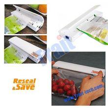 Convenient Reseal and Save Hand Sealing Machine, Home Vacuum Sealer, Plastic Bag Sealer