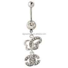 Fashion Body Jewelry Navel Piercing Channel