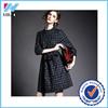 Yihao 2015 Ladies Winter Plaid 3/4 Sleeve Retro Formal Dress