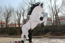 customized new style giant white inflatable horse for decoration