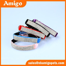 Amigo Pet velvet with bling bling crystal leather dog collar