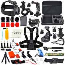 Sales promotion go pro camera kit Monopod Pole Floating Head Chest Mount For go pro camera