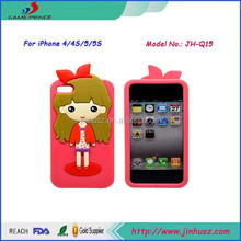 Lovely Little Girl waterproof phone case for iPhone4/4s,china new arrive phone case wholesale