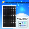high efficiency and low price solar module 260watt 60pcs solar cell