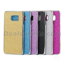 Glitter Powder Leather Skin Hard Cover for Samsung Galaxy Note 5 - Gold