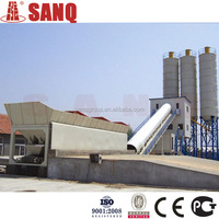 The plant for produce concrete of Russia 90 m3/h HZS90 Conveying Belt SANQGROUP