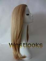 Hand Tied Front Hairline Virigin Blonde Hair Jewish Band Falls