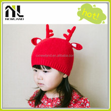 2015 Christmas children/baby reindeer knitted hat