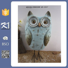 unique hot selling colorful garden ceramic owl gift