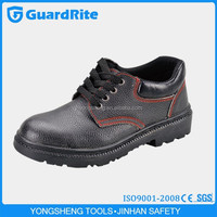 GuardRite black natural rubber industrial safety shoes