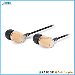 Wood Headphone Cool In-ear Stereo Wood Earphones And Earbuds With Mic
