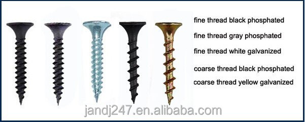Types Of Gypsum ~ C material black drywall screw for gypsum board buy