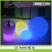 rechargeable led garden ball light/led ball light outdoor/swimming pool tool big ball led light,remote control color change