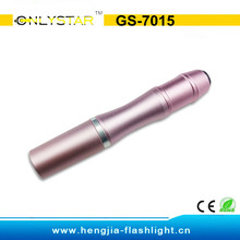 Manufacture aluminum led torch light pen with low price