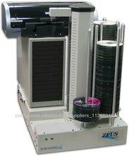 Automática Impressora e Duplicadora de DVD com 7 gravadores, jato de tinta HP, 600 capacidade de discos, PC integrado Windows 7