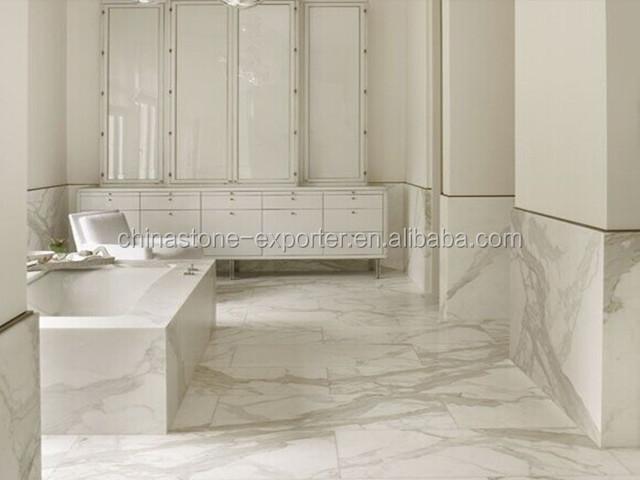 Italian calacatta white marble for bathroom project view for Bathroom designs in italian marble